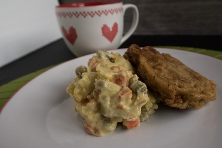 potato salad & schnitzel2